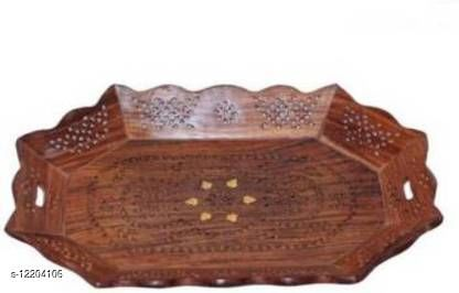 Latest wooden serving tray