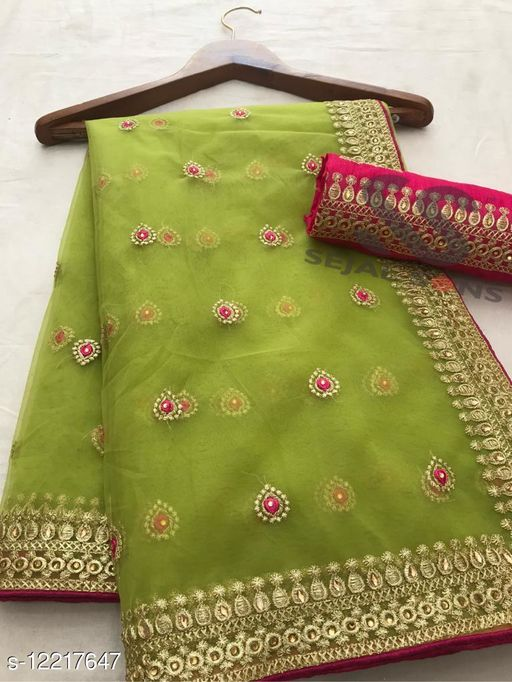 Havey Net  Embroidery Srees