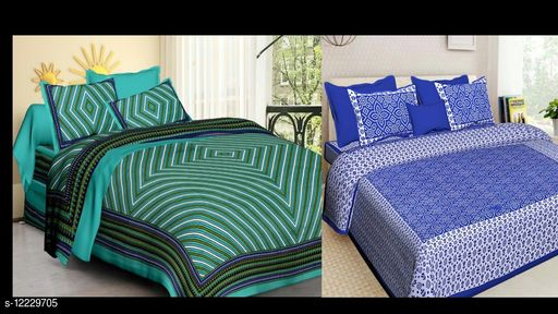 2 Double Bed Bedsheet with 4 Pillow Cover