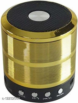 Wireless Bluetooth Heavy Quality WS 887-BT Stereo Speaker Desktop Portable Speakers with FM Radio Mic Micro SD Memory Card Slot, AUX Mode, USB Compatible with All Smartphones