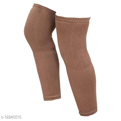 Wollen Knee Cap Leg Warmer For Men And Womens Brown