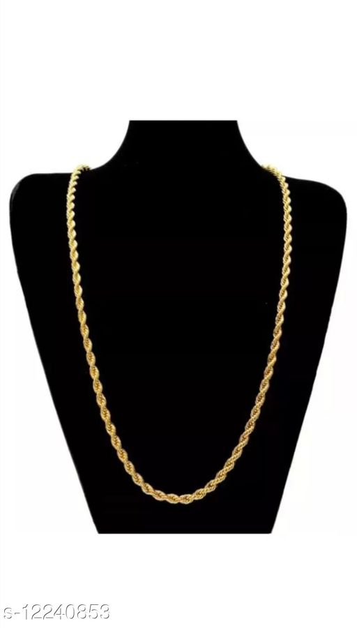Fashion Men Chain 18K Gold Plated Pack of 1