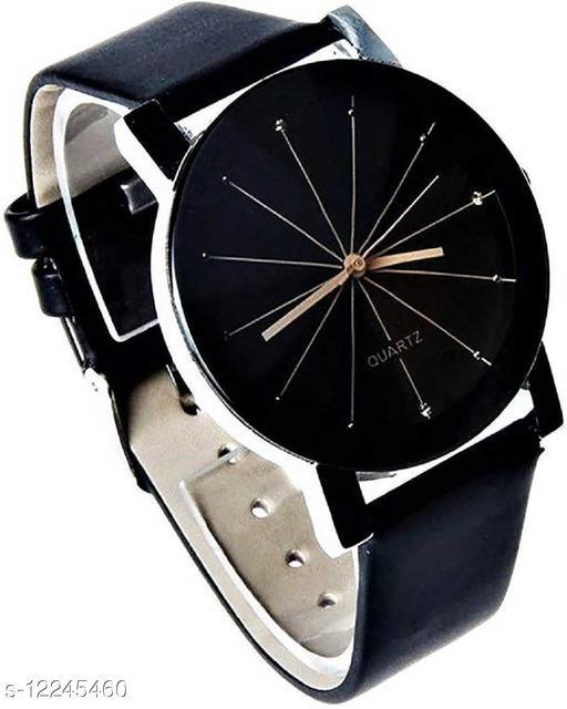 MMD New Diamond Cut Glass Leather belt watch For Women Analog Watch