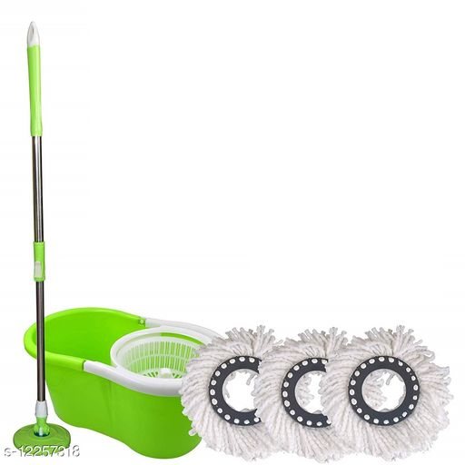 Cleaners classy bucket Mop set Platic jali With Refill 3