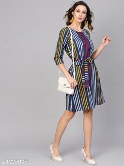 Indigo Printed Shift Dress