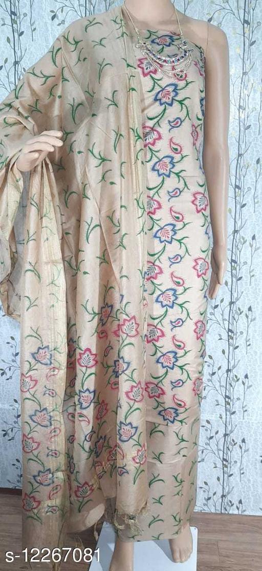 Trendy Cotton Silk Viscose Suit & Dress Material