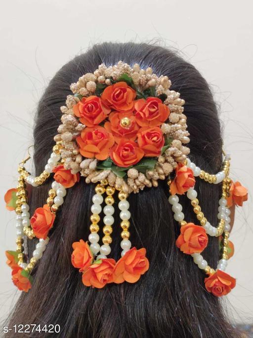 Attractive Women's   Orange  Artificial Gajra