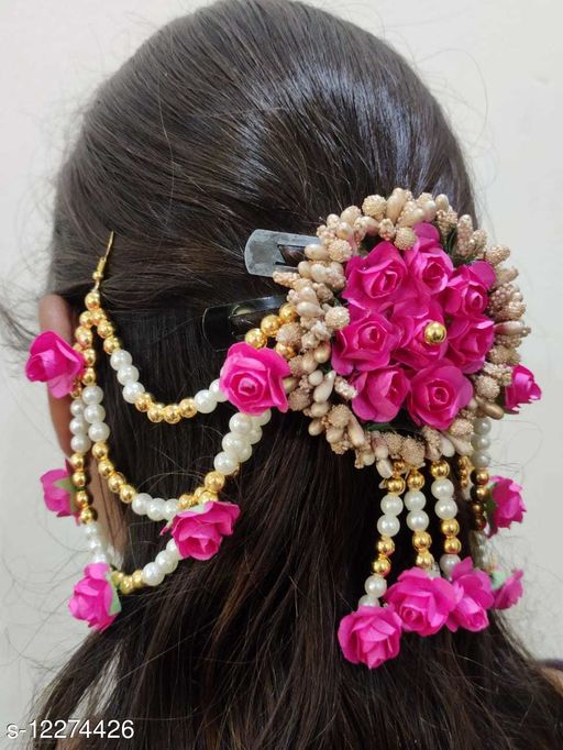 Trendy Women's   Multicolor Fabric Floral Styled Hair Accessories
