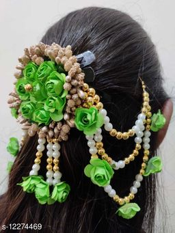 Attractive Women's Green Floral Hair Accessories