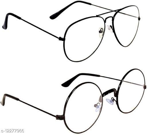 Davidson Combo of Round and Aviator Style Transparent Sunglasses
