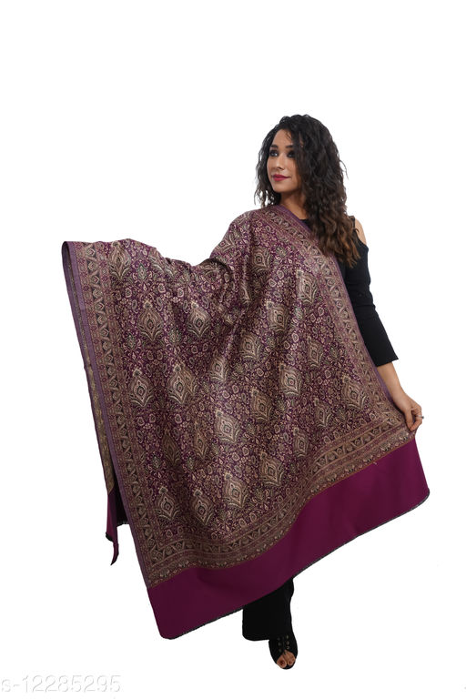 Women Jamdaani Jaal, Kashmiri , Designer Wool blend Shawl