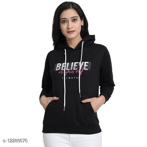 Trendy Fleece Solid Sweatshirts
