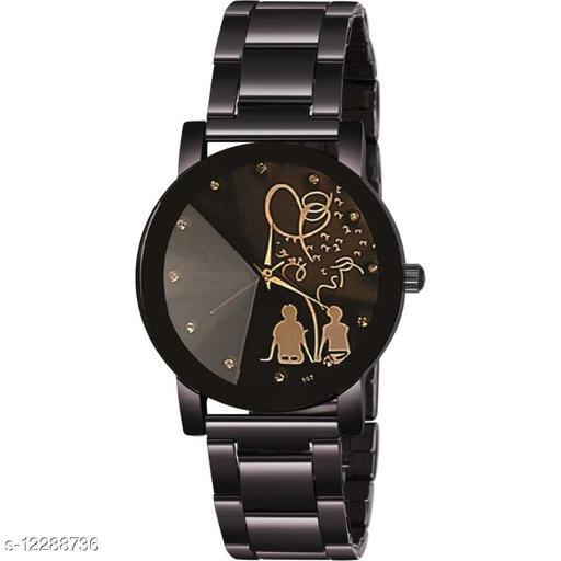 Bolun Crystal-Sitting Couple -Chain-Women Premium Quality Designer Fashion Wrist Analog Watch