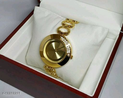 Unique Gold Metal Watches For Girls and Women
