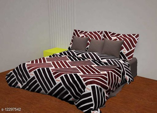 SOFTY Warm Flannel Bedsheet (1 Bedsheet With 2 Full Size PillowCovers)