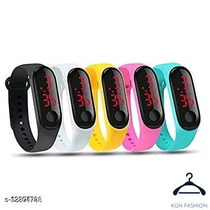 Trendy 5 colour kids and men watch black white yellow pink sky