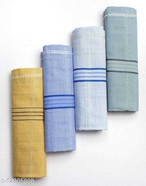 Men cotton Hankerchief (4pcs)