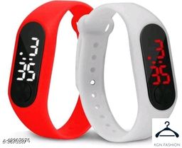 boy trendy watch red white 2 piece combo