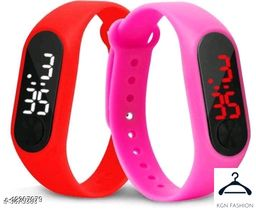 boy trendy watch red pink  2 piece combo
