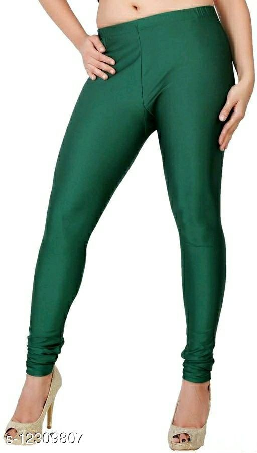 Women's Cotton Lycra 4 Way Stretchable Churidar Leggings For Women Multi Color Fit to Waist