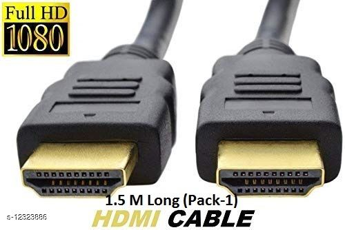 Exabyte HDMI Cable I 1.5 M | 4K Ultra HD | Ethernet Support | 23Gbps | UHD 1.4 | Advanced Digital Audio / Video Cable I Pack -1
