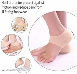 Ultimated Zone Anti-crack Silicon Gel Heel Pad Pain Relief Moisturizing Skin Softening Footcare Treatment Socks For Men & Women