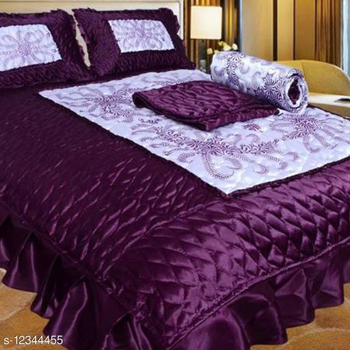 Ria Stylish Silk 102 X 90 Double Bedsheet