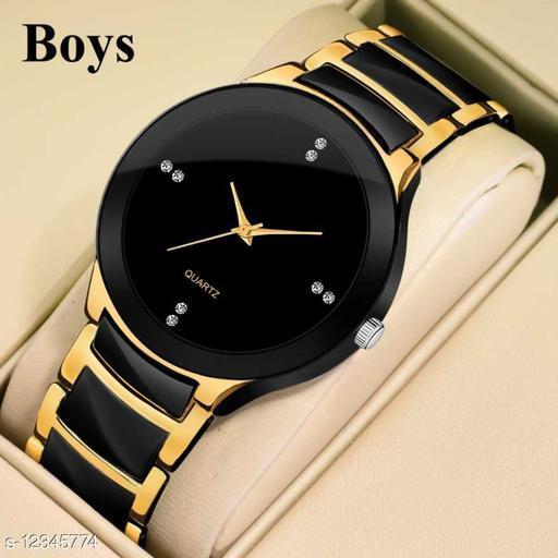 Bolun Golden Black Metal Best Collection Men Wrist Watch