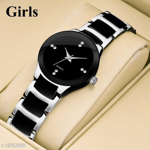 Bolun Silver Black Metal Best Collection Women Wrist Watch