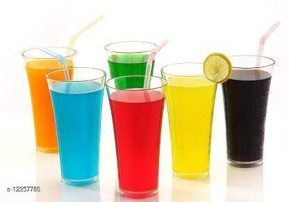 (Pack of 6) Premium Quality Poly Carbonate Stylish Transparent Glass Glass Set