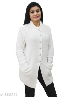 Beautiful Pure Soft Wool Buttoned Sweater / Cardigan for Winters