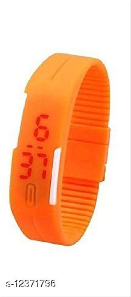 Digital LED band classic sports watch for kids (Orange)