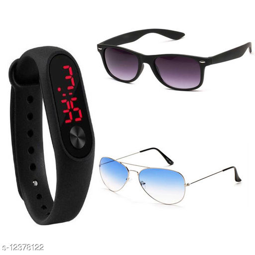 MSE-207-NEW COMBO SUNGLASS WITH WATCH BAND -01