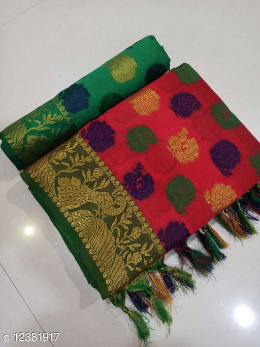 New Attractive Women's cotton Silk Patola Saree