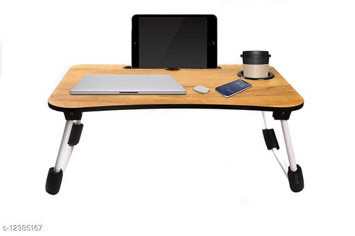 Laptop Adaptor Smart Multi-Purpose Laptop Table with Dock Stand/Study Table/Bed Table/Foldable and Portable/Rounded Edges/Non-Slip Legs/Engineered Wood (WOODEN) Product Name: Smart Multi-Purpose Laptop Table with Dock Stand/Study Table/Bed Table/Foldable and Portable/Rounded Edges/Non-Slip Legs/Engineered Wood (WOODEN) Brand Name: SHIV ENTERPRISE Color: Brown Compatibility: Laptops Multipack: 1 Sizes Available: Free Size   Catalog Rating: ★4.3 (592)  Catalog Name: SHIV ENTERPRISE Laptop Adapters CatalogID_2382759 C106-SC1537 Code: 195-12385167-