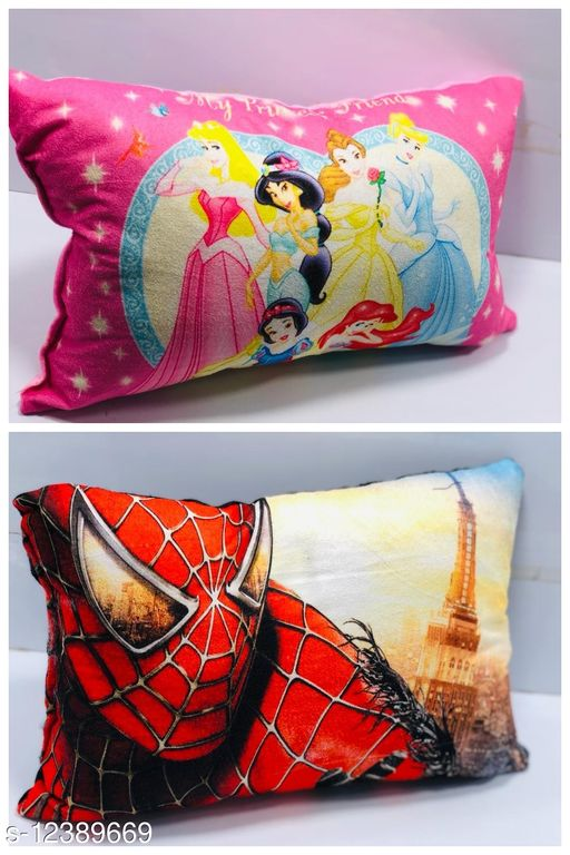 HK Collection Latest Designs Velvet Baby Pillows (Set of 2 Pieces)