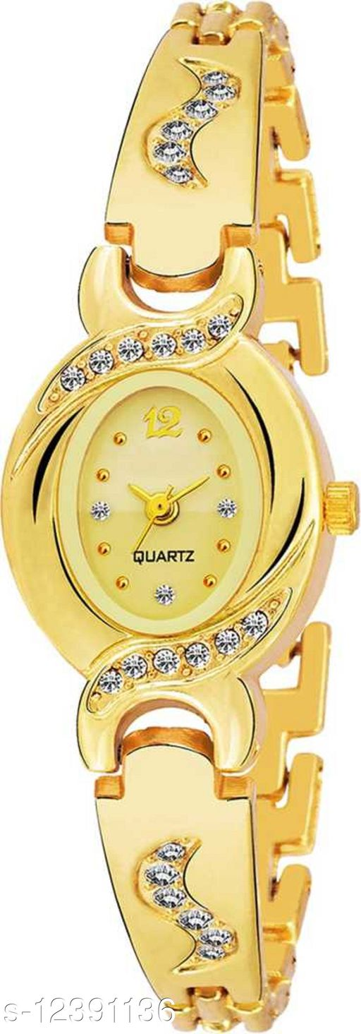 Miss Perfect New AKS Attractive Designer Party-Wedding Style Gold Dial Gold Belt Watch For Women & Girls Pm-04 New AKS Attractive Designer Party-Wedding Style Gold Dial Gold Belt Watch For Women & Girls  Analog Watch