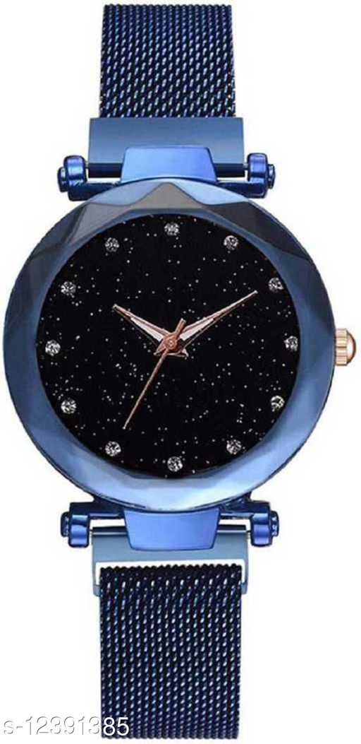 Miss Perfect Luxury Mesh Magnet Buckle Starry sky Quartz Watches For girls Fashion Analog Watch