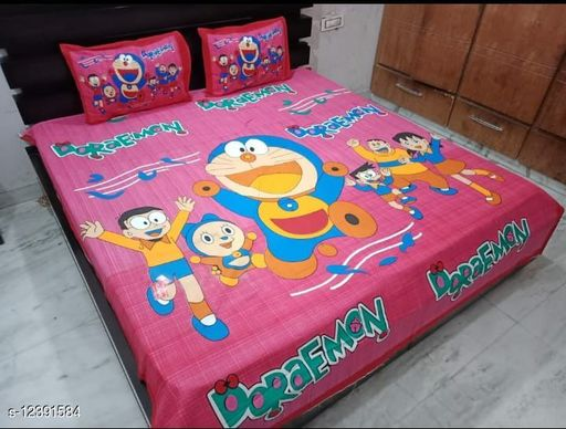 Salgia classic cotton doremon print bedsheets