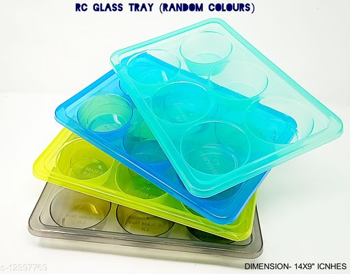 4PC SET RC GLASS TRAY(AS PER AVAILABLITY)