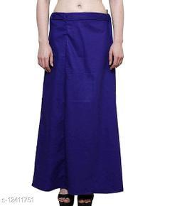 Pure Cotton Saree Petticoat Royal Blue Color Free Size