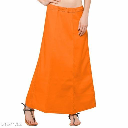 Pure Cotton Saree Petticoat Orange Color Free Size