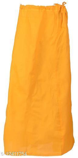 Pure Cotton Saree Petticoat Mustard Color Free Size