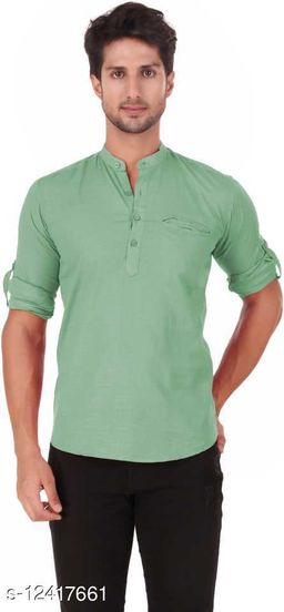 Shopping Santa Light Green Shirt