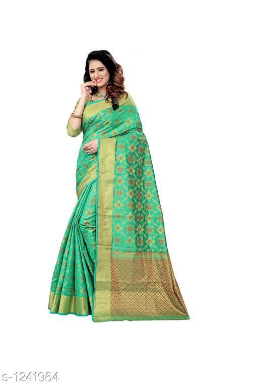 Sarees Colorful Patola Silk Printed Saree  *Fabric* Saree - Patola Silk , Blouse - Patola Silk  *Size* Saree Length - 5.5 Mtr , Blouse Length –  0.80 Mtr  *Work* Zari Work  *Sizes Available* Free Size *    Catalog Name: Bella Colorful Patola Silk Printed Sarees Vol 1 CatalogID_156861 C74-SC1004 Code: 049-1241964-