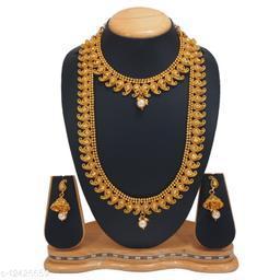 Rajkanya Trendy Ethnic GOLD PLATED LONG SET