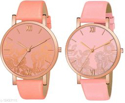 Green Scapper Multicolor Leather Strap Analog Watches For Girls & Women-0372