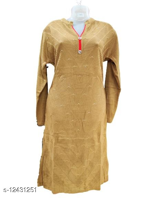 women stylish woollen kurti