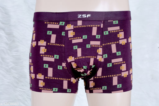 Men's Low-Rise Printed Trunk with Soft, Absorbent Stretchable Fabric Relaxed