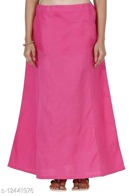 Pure Cotton Saree Petticoat Pink Color Free Size